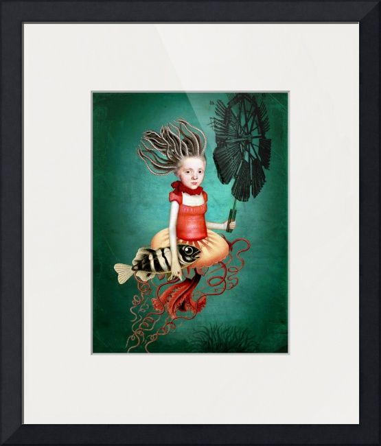 """""""Die kleine Meerhexe"""" by Catrin Welz-Stein, Zuerich // Digital artwork // Imagekind.com -- Buy stunning fine art prints, framed prints and canvas prints directly from independent working artists and photographers."""