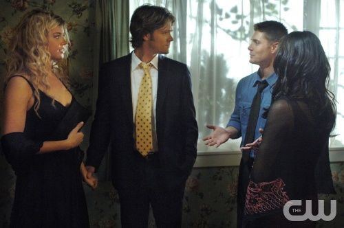 What Is and What Should Never Be--(-L-R) Jared Padalecki as Sam,  Adrianne Palicki as Jessica Moore, Jensen Ackles as Dean and Michelle Borth as Carmen star in SUPERNATURAL on The CW. Photo: Sergei Bachlakov / The CW ©2007 The CW Network, LLC. All Rights Reserved.