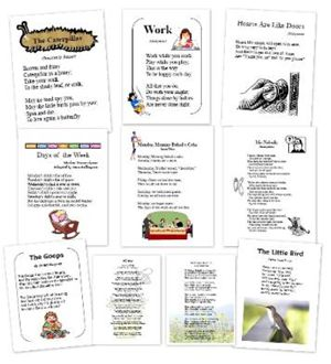 First Language Lessons ~ Poem Printables