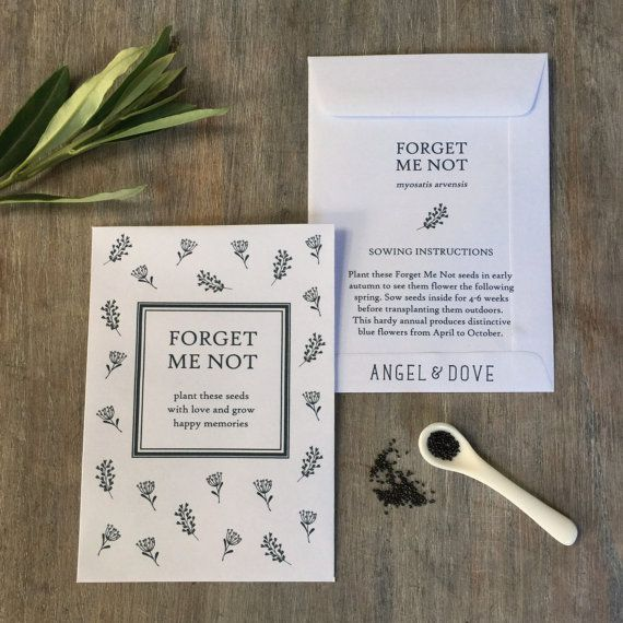 10 Forget Me Not Seed Packet Favours By Wedding In A: 17 Best THOUGHTFUL SYMPATHY GIFTS Images On Pinterest