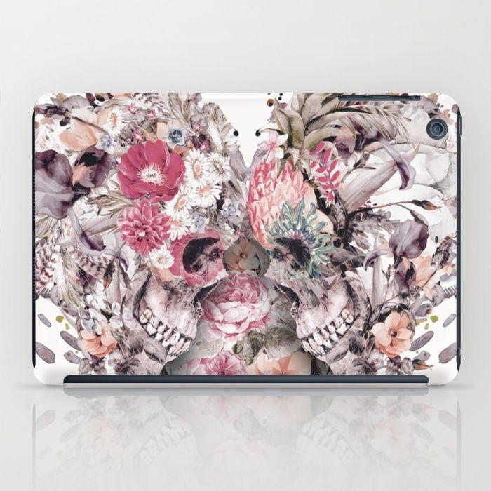 Momento Mori VIII iPad Case #skull #love #heart #flowers #digitalart #society6