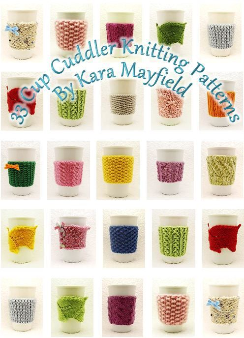 33 Cup Cuddler Knitting Patterns  PDF Ebook