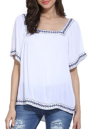 Buy Ama Bella white rayon  Online, , LimeRoad
