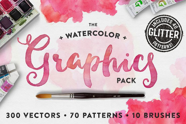 A Colourful And Glittery Watercolor Pack Introducing the Watercolor Graphics Pack! With Glitter! I've lovingly painted & hand-sketched over 300 elements for your creative pleasure, then vectorized them all, and imported them into Photoshop on individual layers, to make your workflow easier. Then, to spice up your vectors, I've included new 30 watercolor patterns, as ... read more