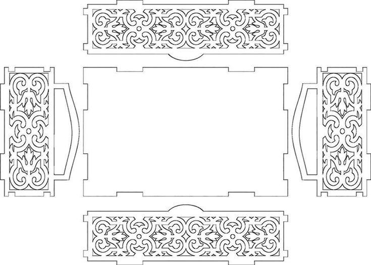 Tepsi çay tepsisi tray tea tray kıl testere scroll saw desen pattern