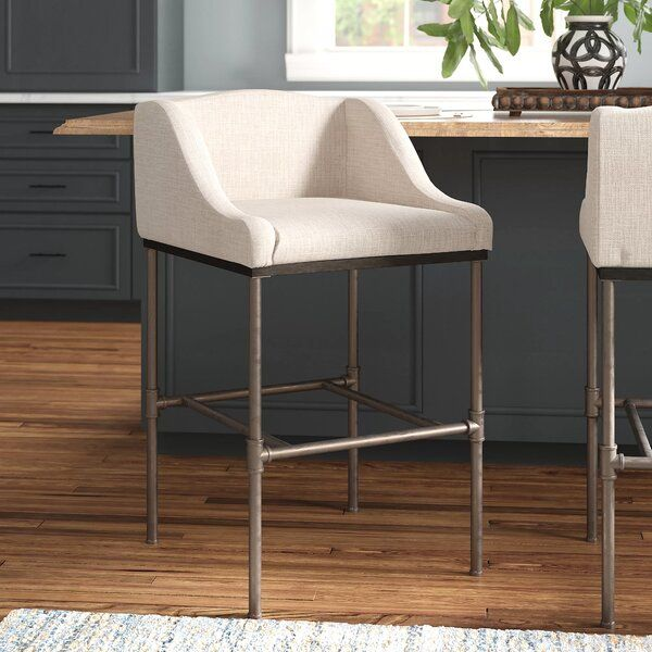 Showcasing A Classic Wingback Design This Counter Barstool Effortlessly Blends Contemporary And Traditio Contemporary Bar Stools Counter Bar Stools Bar Stools