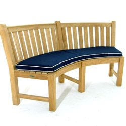 Sunbrella Curved Bench Cushion Curved Bench Teak And