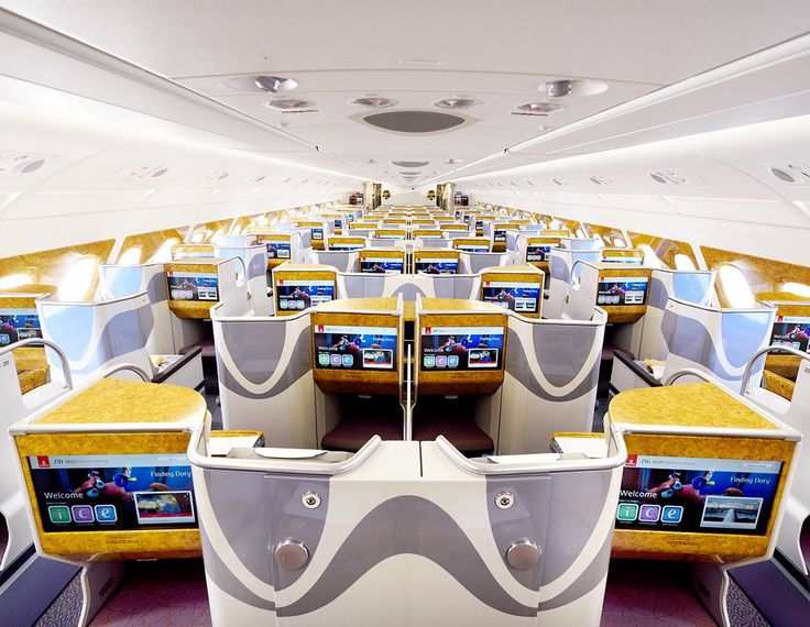 Emirates Airlines Airbus A380 Business Class cabin