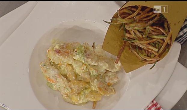 Ricette Sergio Barzetti: pollo alla crema di yogurt e zucchine fritte