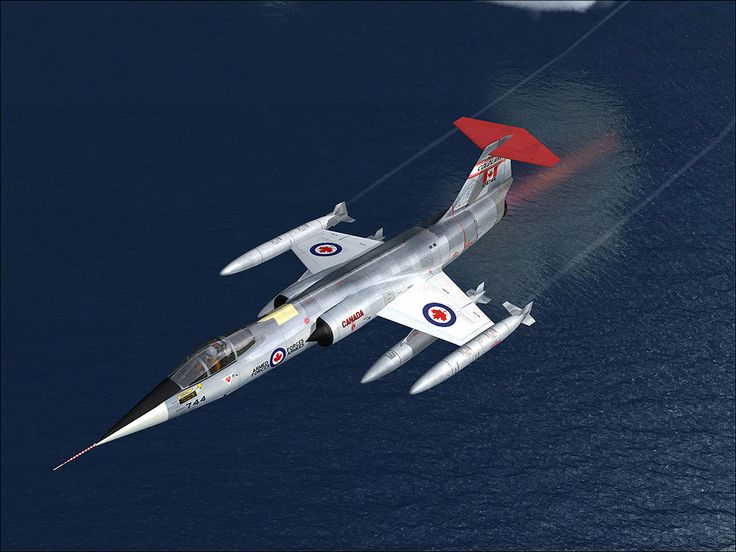 Canadian CF-104G Starfighter - Quite possibly the coolest looking fighter jet ever made.