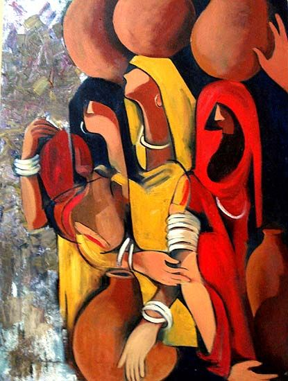 Untitled by Shilpa Jadha; acrylic on canvas; 2007; 32.0 x 24.0"