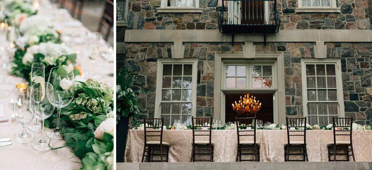 outdoor wedding reception at Graydon Hall