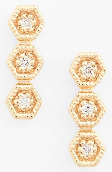 Dana Rebecca Designs 'Kathryn Lynn' Diamond Drop Earrings available at #Nordstrom