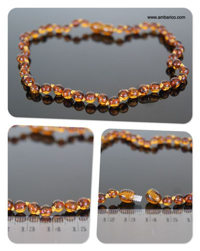 @Joyas de ámbar (Amber jewelry) Collar de ambar para dentición niños(as), (baltic amber necklace children)