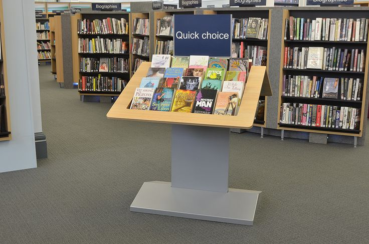 Table display unit at Gateshead library