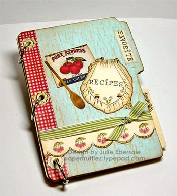love this vintage looking recipe book!
