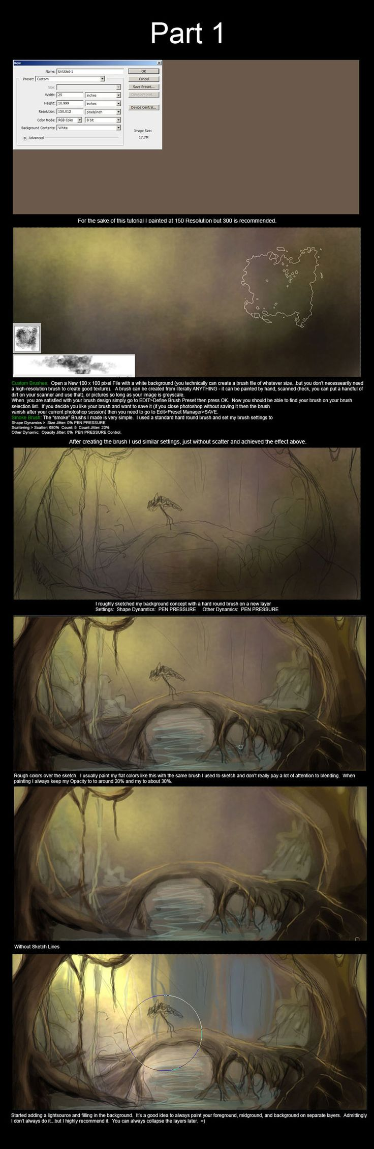 Forest Tutorial Part 1 by Lunar-lce.deviantart.com on @deviantART
