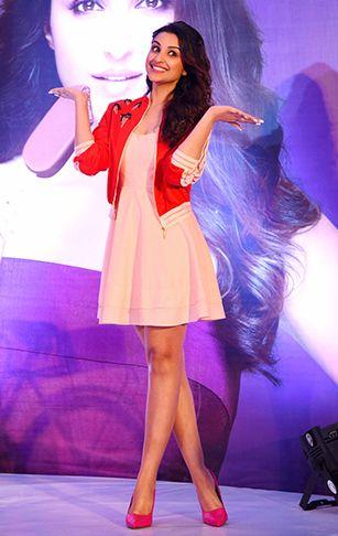 Parineeti Chopra in a subtle dress paired with a Nishka Lulla jacket  -cosmopolitan.in