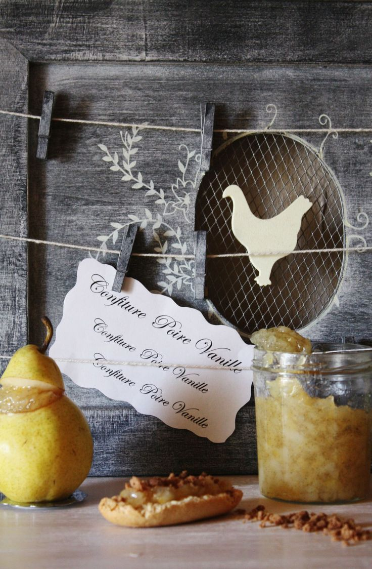 Pear vanilla jam  ( it's in French)- need to translate this:  YUM!