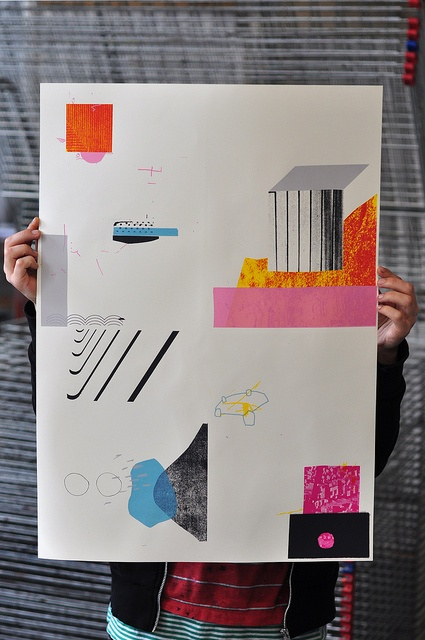 simplified expressive collage. ample whitespace - damien tran