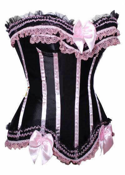 Black / Pink Burlesque Corset