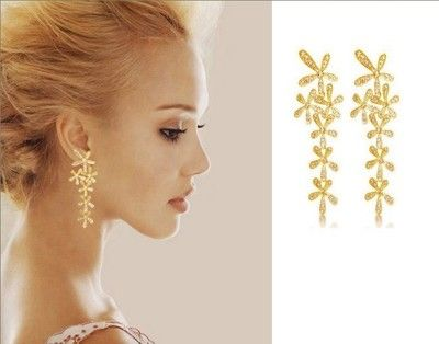 Hot Fashion Full Rhinestone Long Snowflake Flower Dangle Earrings Stud P10 | eBay