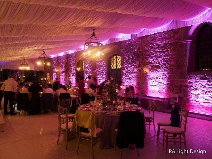 Lighting at castello di Vincigliata  www.ralightdesign.com