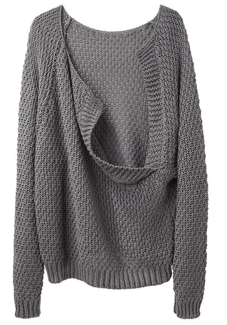 LE PRAIRIES DE PARIS   Le Loose Drape Back Sweater   Shop at La Garçonne
