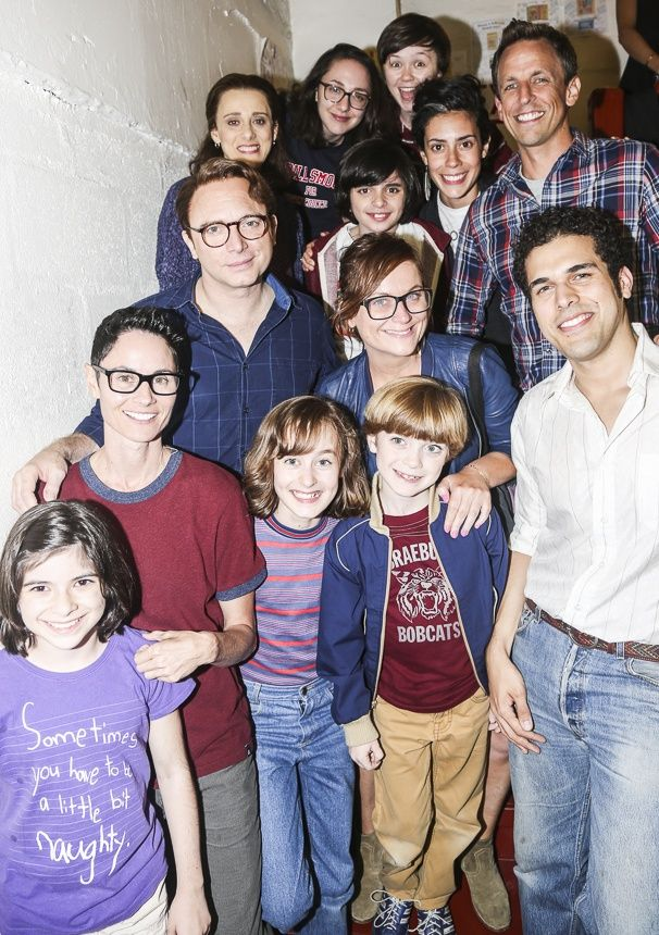 Amy Poehler & Seth Meyers visit FUN HOME! #pinoftheday