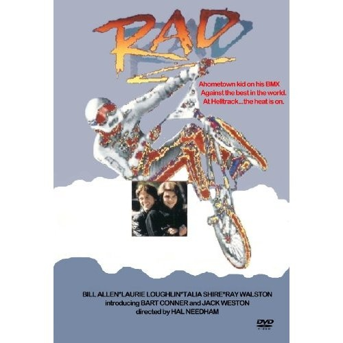"""Rad (1986): One of the sweetest BMX opening sequences, and a killer ending sequence too!  """"Send Me An Angel"""" was also a quality 80s ballad.: Bart Conner, Open Sequences, Rad 1986, Hal Needham, Bill Allen, Movies, 80S Ballad, Talia Shire, Loris Loughlin"""