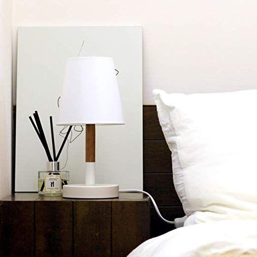 AFFILIATELINK Tomons 2er Set LED Nachttischlampe aus Holz, LED