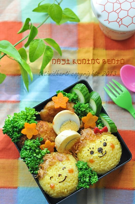 "cooking is cool: Nasi kuning ""bento"""