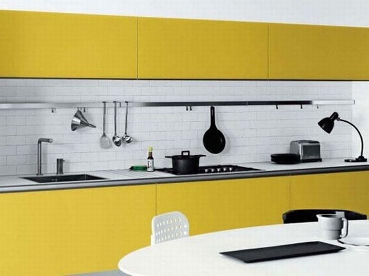 Die besten 25+ Gelbe Küchenakzente Ideen auf Pinterest Boys - rote kuche gelbe wand