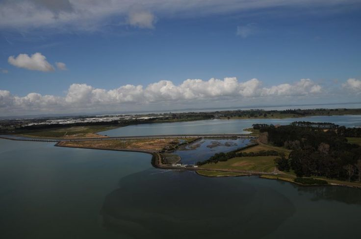 Discharge into the Manukau Harbour, Auckland, New Zealand
