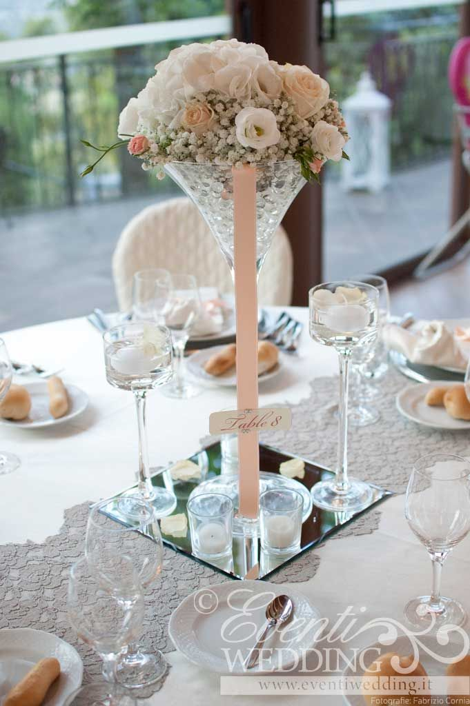 wedding table name card size%0A Centro tavola con particolari rosa cipria  Rustic Wedding DecorationsWedding  PlannersTable