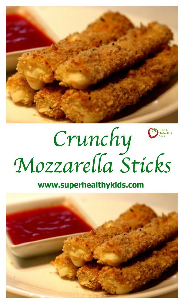 Crunchy Mozzarella Sticks Recipe. After eating these, you'll never order them at a restaurant again! www.superhealthykids.com/healthy-appetizer-or-snack-crunchy-string-cheese-dippers