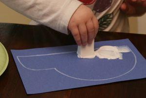 igloo craft stamping The Three Snow Bears