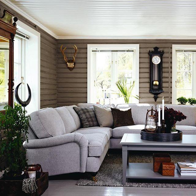 Mulpix stue med rustikke interiørdetaljer! sofaen heter notting ...