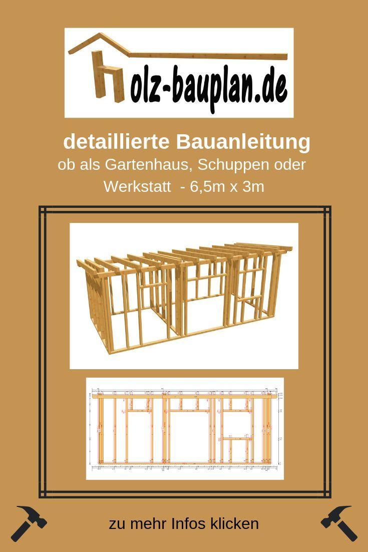 Holz Bauplan 6m X 3 M Holzschuppen Selber Bauen Gartenhaus Ideen Gartenhaus Nach Mass Individue Holzhaus Selber Bauen Gartenhaus Selber Bauen Gartenhaus