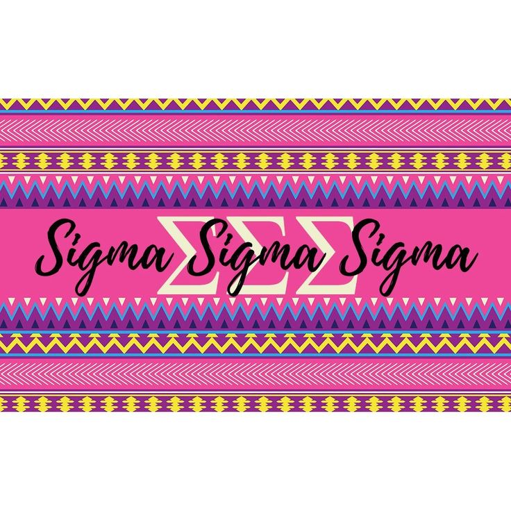 Sigma Sigma Sigma sorority 3 x 5 foot flag - Pink and purple Aztec - Room decor. My flags are designed by me so you will find these designs no where else ! Decorate your dorm, sorority house or yard with this large, colorful flag. A large 3 x 5 feet, these are a definite statement flag ! -Indoor / Outdoor flag. 100% Polyester Mesh flag. 36 inches x 60 inches. -Two grommets on left side for hanging and are printed with dye sublimation and should be hung outside for short times for display…