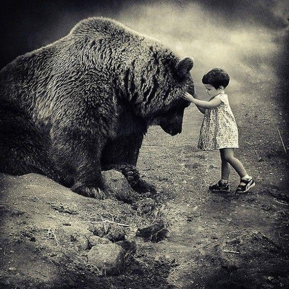 Des enfants et des animaux