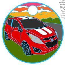 Chevy Spark Car Pathtag Geocoin Alt