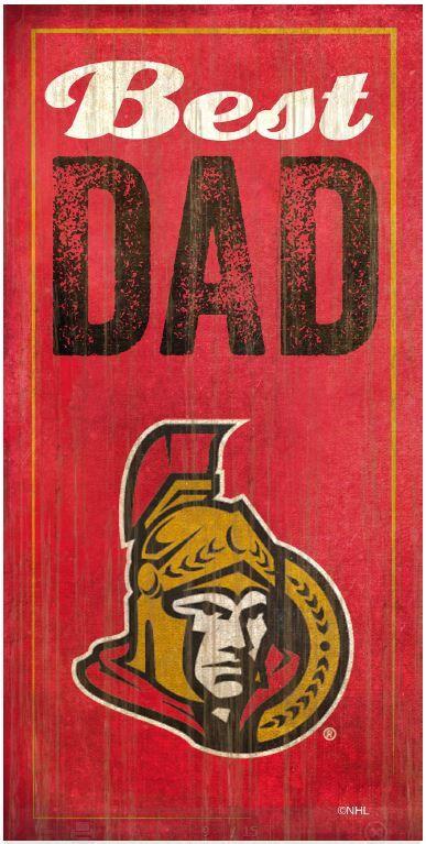 NHL - Best Dad - Ottawa Senators Wooden Sign