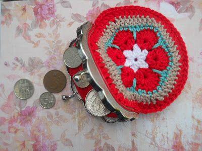 knutsel-mam: Afrikaanse bloemen/portemoneetje
