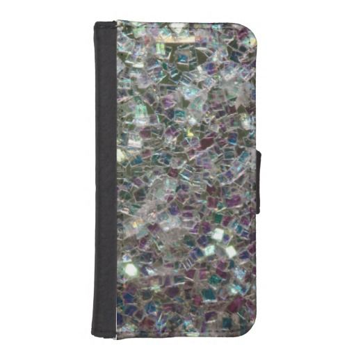 SOLD! Sparkly colourful silver #mosaic #iPhone 5/5S wallet case by #PLdesign #SilverSparkles #SilverMosaic #iPhoneCase