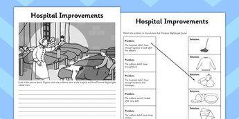 Florence Nightingale Hospital Improvements Activity Sheet - sheet
