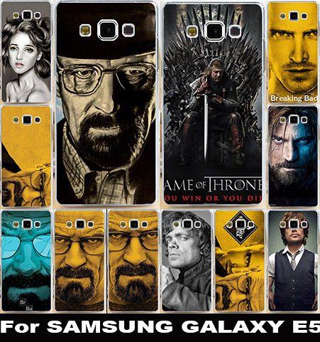 ТВ Breaking Bad Уолтер Уайт Телефон Случаях Для Samsung Galaxy E5 Крышка E500 E500F Жилищного Сумка Кожа Мягкая TPU Царапинам Shell