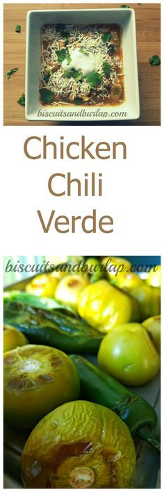 Chicken Chili Verde is made delicious with roasted tomatillos and peppers.