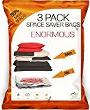 #10: Simon Stelz Enormous Premium Vacuum Storage Bags  3 Pack. Largest Vacuum Bags on Amazon. For Blankets Comforters & Cushions