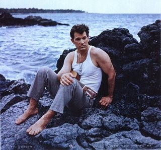 Oh, to be stranded on an island with Chris Isaak...